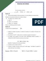 exercice de chimie général