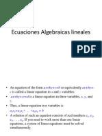 Ecuaciones Algebraicas lineales-1