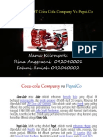 Analisis SWOT Coca Cola Company vs Pepsi....
