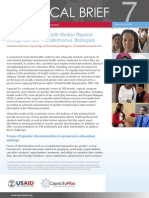 Strengthening Health Worker Pipeline Gender Transformative Strategies