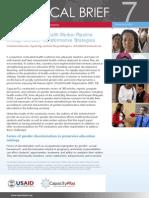 Strengthening Health Worker Pipeline Gender Transformative Strategies