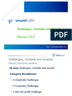 Challenges, Contests, Awards - SkipsoLabs Weekly Digest February 2013