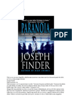 Joseph Finder Paranoja
