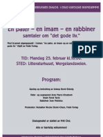 "En pater – en imam – en rabbiner samtaler om ""det gode liv"""
