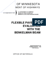 Flexible Pavement Evaluation With Benkelman Beam - MDOH