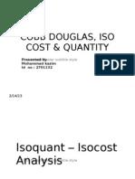 ISO Cost & Quantity