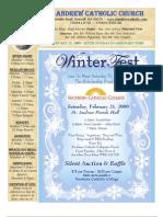 February 15, 2009 Bulletin of the St. Andrew Catholic Church, Roswell, Georgia