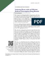 Reducing Waste With an Efficient Medicare Prescription Drug Benefit