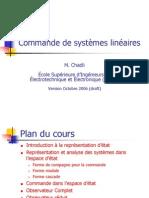 Commande de systèmes linéaires