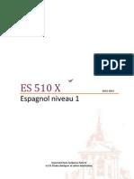Espagnol niveau 1 - ES510X Brochure