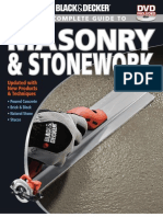 The Complete Guide to Masonry and Stonework (Black and Decker) 3rd Ed (Creative, 2010) BBS