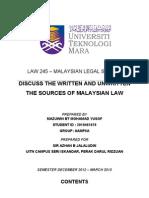 Written & Unwritten On Msia Law
