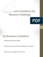 EQ Resistant Guidelines for Masonry Buildings