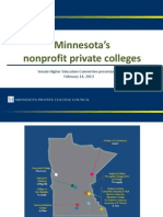 Minnesota Private College Council - Presentation on February 14, 2013