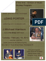 The University of the Arts - Graduate Jazz Studies Program welcomes Lewis Porter with J.Michael Harrison - February 19, 2013