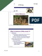 Animal BehaviorFYBSc2004