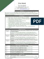 Software Tester CV Template  Staffing Recruiter Resume