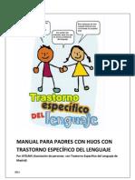 MANUAL PARA PADRES CON HIJOS CON TRASTORNO ESPECÍFICO DEL LENGUAJE (TEL)