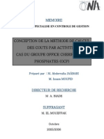 CONCEPTION DE LA METHODE DE CALCUL DES COÛTS