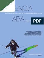 Evidencia experimental de eficacia de los tratamientos globales basados en ABA (análisis aplicado del comportamiento) para el niño pequeño con autismo (TEA)