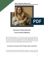 Metodo practico para rezar el santo rosario, paso a paso, ideal para principiantes