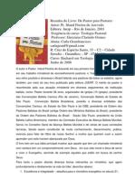 Carla Geanfrancisco - Resenha Do Livro de Pastor Para Pastor