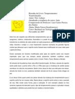 Carla Geanfrancisco - Resenha Do Livro Temperamentos_transformados