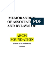 Memorandum of Association AEC96 v1 0