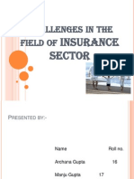 Challenges in the Field of Insurance Sector