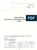 PO-SG-06 Procedura de Arhivare a Documentelor Aflate Pe Suport de Hartie