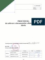 PO-SG-06 Procedura de Arhivare a Documentelor Aflate Pe Suport de Hartie