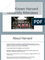 Well-Known Harvard University Attendees