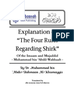 The Explanation of the Four Rules Regarding Shirk Shaikh Muhammad Abdul-Wahaab - Qawaid al-Arba'a