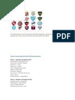 Fixture Torneo Inicial 2012-2013 de Primera División