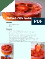Fresas Con Naranja
