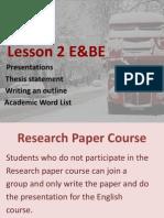lesson 2 E&BE