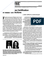 """Defeating Class Certification in Mass Tort Actions"" (For the Defense, March 1997)"