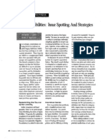 """Legacy Liabilities-  Issue Spotting And Strategies"" (Corporate Counsel, November 2002)"