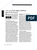 """""""Mass Torts and Legacy Liabilities – Back to the Future"""" (Corporate Counsel, August 2008)"""