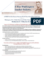 Civil War Washington Teacher Fellows Flyer