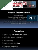 Wireless Emergency Alerts (WEA) webinar presentation 021313