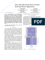 Design of Double L-Slot Microstrip Patch Antenna for WiMAX and WLAN Application