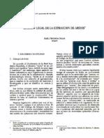 Regimen Legal de La Extraccion de Aridos