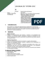 PLAN ANUAL DE  TUTORÍA -SECUNDARIA-SERGIO 33