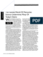 """""""the Fanciful World of Memories- Science Undermines Many of Today's Claims,"""" P. Lamb and J. Shelton (Corporate Counsel, Feb. 2006)"""