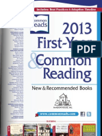 Random House 2013 First Year & Common Reading® Catalog