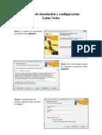 Manual de Instalación y configuración Lotus Notes