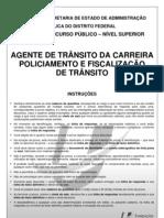 Prova Detran Agente de Transito 2012 Funiversa