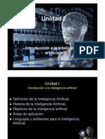 Unidad I. Introducción a la inteligencia artificial