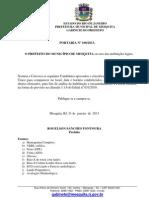 Portaria n 100-2013 - Nomeao Servidores Efetivos Educao